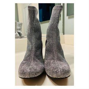 TOPSHOP Martha Glitter Sock Boots Size 10